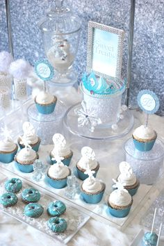 Trend Alert: Frozen Party {Sweets Table}