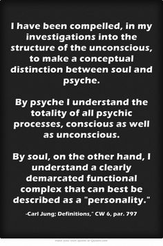 I have been compelled, in my investigations into the structure... (More at the Carl Jung Depth Psychology Facebook Group.)