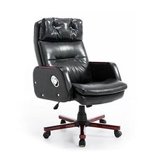leather high back reclining office desk study chair with massage