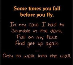 sometimes you fall life quotes funny quotes quote lol funny quote funny quotes humor