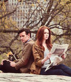 The Doctor and Amy in New York. I saw them filming the other night near the UN!!! It was the most legit moment of my time as a New Yorker.