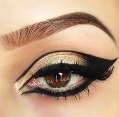 trying this one day, gold and black egytian inspired makeup