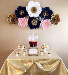 8 piece paper flowers dessert table decor dessert table