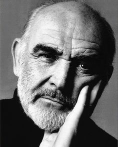 She is a fan of Sean Connery and she sees a lot of his films. This portrait was a lot of work but I am happy that it. Kino Movie, Gorgeous Men, Beautiful People, Grey Hair Men, Celebs, Celebrities, Famous Faces, Famous Men, Belle Photo