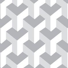 Papel de Parede Textura em Tons de Branco e Cinza