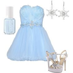 6 Ways to Create a Frozen Prom Theme or Winter Formal - #5 Dress the Part!