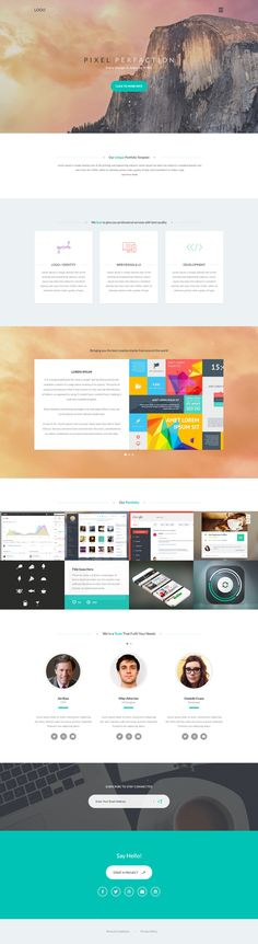 Responsive Portfolio Template by My Creative Shop on Creative Market