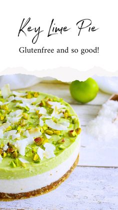 Gluten-free Key Lime Pie - Oh My Pie! - Enjoy a healthy cake? Yes you can with this pearl on the table! Gluten-free, lactose-free and witho - Healthy Cake, Healthy Dessert Recipes, Healthy Baking, Gluten Free Donuts, Gluten Free Baking, Frozen Banana Smoothie, Gluten Free Key Lime Pie, Sin Gluten, My Pie