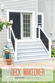 Small city backyard deck makeover with ChoiceDek decking products from Lowes.