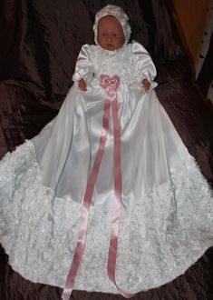 christening  gown nr 195 dåpskjole nr 195 Girls Dresses, Flower Girl Dresses, Christening Gowns, Wedding Dresses, Design, Fashion, Dresses Of Girls, Bride Dresses, Moda