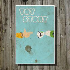 Cartel de película de Toy Story Pixar impresión Disney poster minimalista…