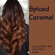 Hair color spiced cinnamon