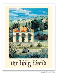 The Holy Land - Garden of Gethsemane - Mount of Olives - Jerusalem - Giclée Art Prints & Posters