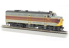 Bachmann HO Standard Line ALCO FA2 Diesel Locomotive, with Sound, Erie Lackawanna