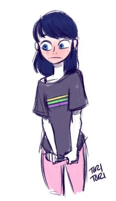 Mari in Adrien's Shirt <3