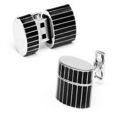 Pinstripe Oval 8GB USB Flash Drive Cufflinks #RR-535-PS