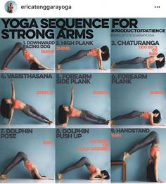 Yoga sequence for strong arms. This sequence is all about holding. Most yoga poses require a lot of holding on so why not strengthen by holding the foundation? Yoga Bewegungen, Cardio Yoga, Sup Yoga, Yoga Moves, Yoga Flow, Pilates, Yoga Exercises, Vinyasa Yoga, Ashtanga Yoga