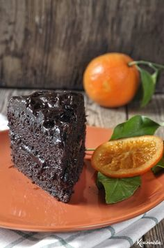 Lenten chocolate cake with avocado & orange / Vegan chocolate-orange avocado cake Sweet Desserts, Healthy Desserts, Sweet Recipes, Vegan Recipes, Dessert Recipes, Cooking Recipes, Chocolate Avocado Cake, Vegan Chocolate, Chocolate Desserts