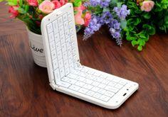68 Key Folding Keyboard - Bluetooth 3.0, 310mAh Battery, Function Keys, Ergonomic Design, Long Battery Life