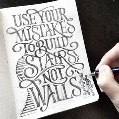 Work by @dandrawnwords #typography #betype #lettering...