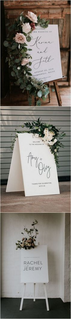 30 Stunning Wedding Welcome Sign Ideas to Steal - Wedding Ceremony Floral Wedding, Rustic Wedding, Our Wedding, Wedding Flowers, Dream Wedding, Garden Wedding, Wedding Ceremony, Bridal Shower Welcome Sign, Wedding Welcome Signs