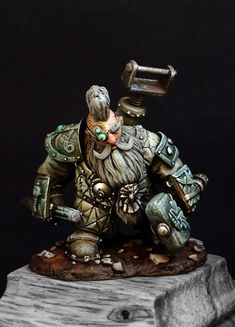 Master Digger by Sergey Savenkov · Putty&Paint Warhammer Dwarfs, Warhammer 40k, Warhammer Models, Warhammer Fantasy, Kharadron Overlords, Battlefleet Gothic, Fantasy Dwarf, Miniature Figurines, Dioramas