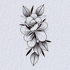 Pop Art Tattoos, Flower Tattoo Drawings, Tattoo Flash Art, Girl Tattoos, Floral Tattoo Design, Flower Tattoo Designs, Flor Tattoo, Autumn Tattoo, Traditional Rose Tattoos