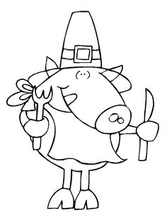 Turkey Coloring page FREE Printable ~ Learn to count #