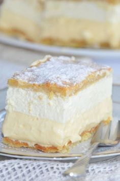 Cake Recipes, Dessert Recipes, Desserts, Custard Slice, Polish Recipes, Cake Cookies, Cupcakes, Vanilla Cake, Good Food