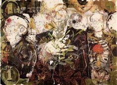"Artist: Antonio Fonseca Vázquez. Title: Metropol.  Media: Drawing mixed media on paper.  Dimensions: 44"" x 60"". 1997.  © Antonio Fonseca Vázquez."