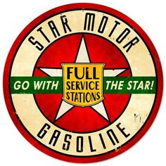 Vintage and Retro Wall Decor - JackandFriends.com - Retro Star Motor Gasoline Tin Sign LARGE, $99.97 (http://www.jackandfriends.com/vintage-retro-star-motor-gasoline-metal-tin-sign/)