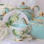 Vintage White Rose Tea Trio