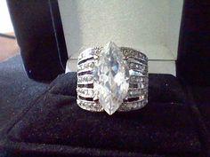 LCS* DIAMOND MARQUISE ENGAGEMENT WEDDING RING SZ 5 SZ 6 SZ 7 SZ 8 SZ 9 SZ 10 #EXCEPTIONALBUY #SolitairewithAccents