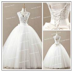 Cheap Ball Gown V neck Floor Length  Wedding Dresses, Inexpensive Dresses for Wedding , Long wedding Dresses, Bridal Dresses, Wedding Gowns on Etsy, $249.99