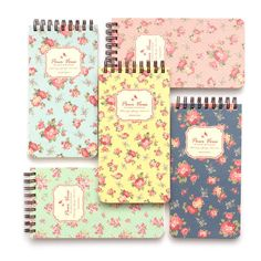 Wanna This Pour vous flower pattern wirebound lined notepad (50 DKK) ❤ liked on Polyvore featuring home, home decor and stationery