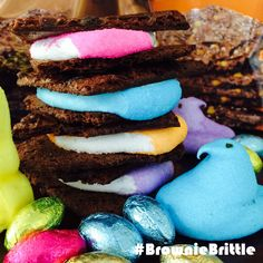 Super simple spring twist on Brownie Brittle S'mores!
