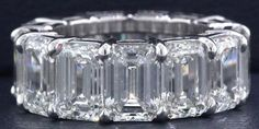 Norman Silverman Diamonds Emerald Cut Diamond Band as seen on Chrissy Teigen 87th Annual Academy Awards
