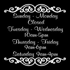 Store Hours Vinyl Decal Business Decal 20 x 20 inchCustom store hours sign Business Sign Decal Business Hours Sign, Business Signs, Resale Store, Color Quotes, Vintage Marketplace, Store Signs, Store Hours, Store Fronts, Design Your Own