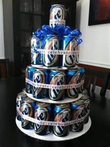 This is a great idea for those who don't like sweets so much. My husband would love one made out of Bud Light.