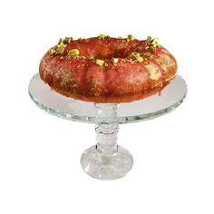 This nutty pistachio cake is incredibly flavourful with a hint of rose water and cardamom. The pink glazing on the top is also delicious.