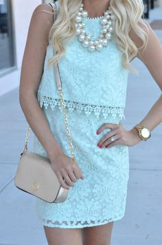 Mint, Lace & Pearls