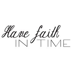 Trust Time Wall Decal - Black