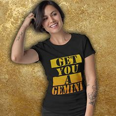 a7faed747 Get You A GEMINI Unisex T-Shirt, Star Sign Tshirt for Men and Women, May  Birthday Gift, June Birthday Gift, Born in May and June, Gemini Art