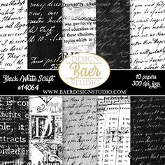 French script digital papers have a textured, grunge and distressed antique look.  These backgrounds are a great option for photo backgrounds, scrapbook layouts, cards, posters and more.  These are 300 dpi high resolution papers.