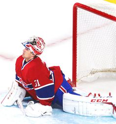 Carey Price, Montreal Canadiens heart of the team, hope he gets better. Hockey Goalie, Hockey Players, Montreal Canadiens, Nhl, Ice Games, Hockey Season, Boston Strong, Sports Toys, New York Rangers