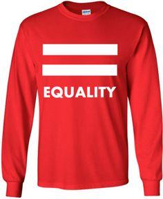 LGBTQ SHIRT Equality Pride Unisex Lgbt Red Long by ALLGayTees