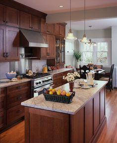"+""oak Cabinets"" +""white Countertops"" Design Ideas, Pictures, Remodel and Decor"