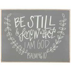 Psalm 46:10 Wood Sign @ Hobby Lobby