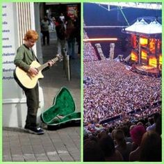 From busking on the street corner to playing to 80,000 people at Wembley stadium, Ed Sheeran is one of my biggest inspirations.