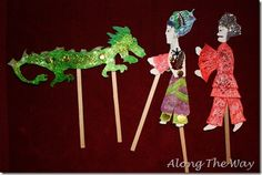 Chinese Shadow Puppets and Theater, free printable templates.